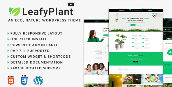 Image of LeafyPlant - Multipurpose Environmental WordPress Theme