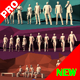 Lowpoly People Pack Walking Standing Running