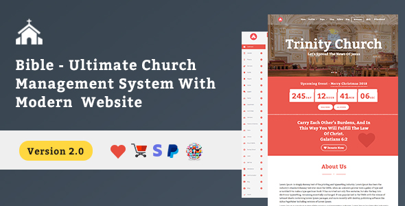 Bible Church Script With Website & Shop - CodeCanyon Item for Sale