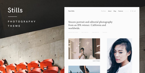 Stills — A Focused WordPress Photography Theme - Photography Creative