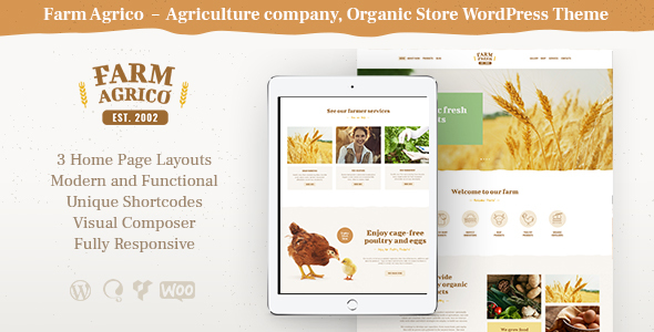 Image of Farm Agrico | Agricultural Business WordPress Theme