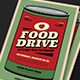 Retro Food Drive Event Flyer