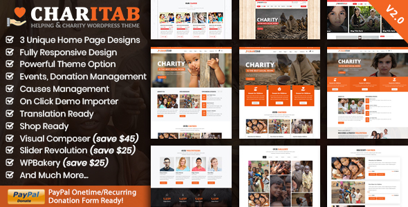 Charitab Charity - Crowdfunding Charity WP