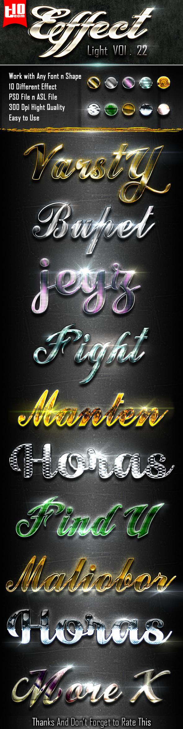 Light Text Effect 22 - Styles Photoshop