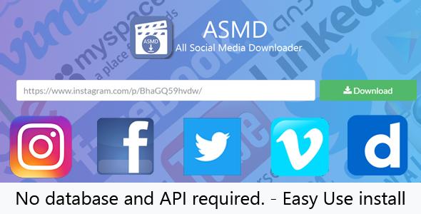 All Social Media Downloader - CodeCanyon Item for Sale