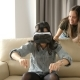 Two Sisters Having Fun with a VR Headset - VideoHive Item for Sale