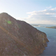 Aerial View of Mountain at Ocean at Sunset - VideoHive Item for Sale