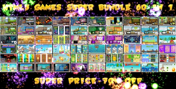 60 HTML5 GAMES!!! SUPER BUNDLE №2 (CAPX)            Nulled