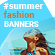 Summer Fashion Web Banners - GraphicRiver Item for Sale