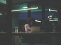 black businesswoman using a laptop in startup office - PhotoDune Item for Sale