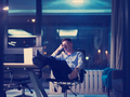 businessman sitting with legs on desk at office - PhotoDune Item for Sale