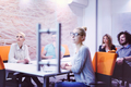 Startup Business Team At A Meeting at modern night office buildi - PhotoDune Item for Sale
