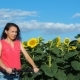 Girl on a Bicycle in Sunflowers - VideoHive Item for Sale
