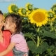 Happy Family in Sunflowers - VideoHive Item for Sale