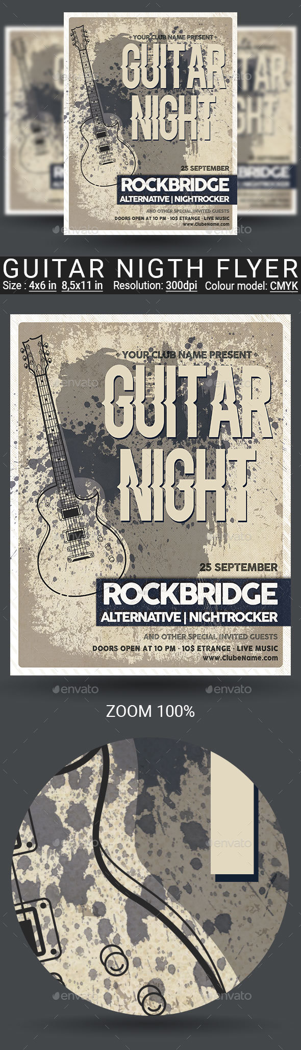 Guitar Nigth Flyer Poster - Events Flyers