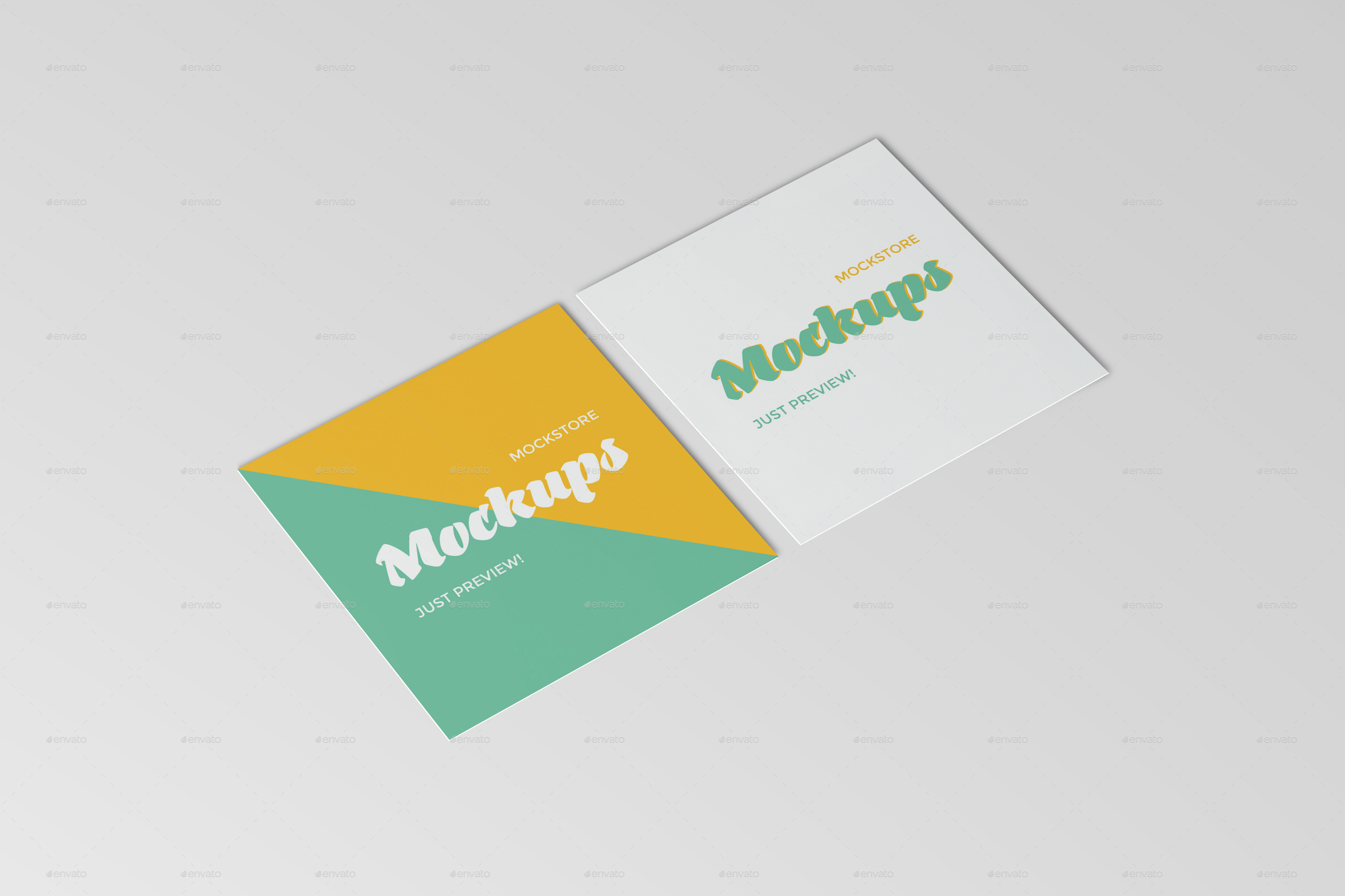 Square Business Card Mockups by mockstore | GraphicRiver