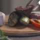 Cook Puts Roasted Meat to Garnish Vegetables - VideoHive Item for Sale
