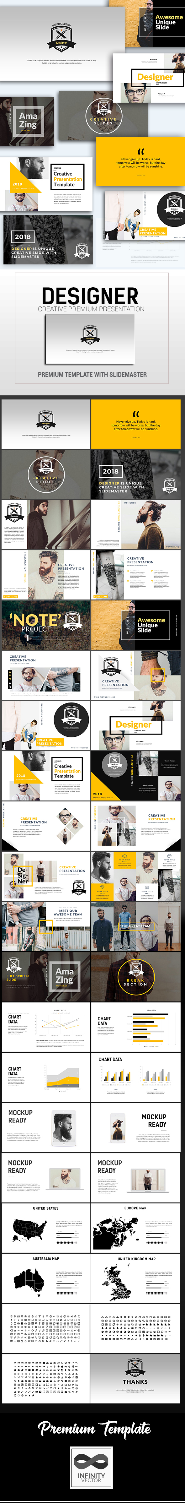 Designer Creative Presentation Google Slide - Google Slides Presentation Templates