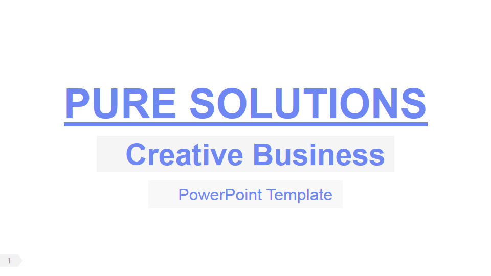 Pure business powerpoint presentation template by rojdark graphicriver previewpitch deck powerpoint templates ppt slides 001 accmission Gallery