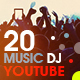 YouTube Bundle - 20 Music & DJ Banners - GraphicRiver Item for Sale