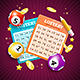 Realistic Detailed 3d Lotto Concept Card Background. Vector - GraphicRiver Item for Sale