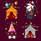 Realistic Detailed 3d Circus Set. Vector