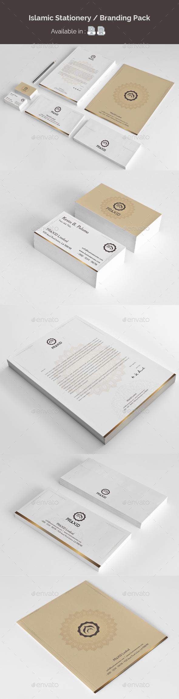 Islamic Stationery Branding - Stationery Print Templates
