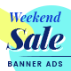Weekend Sale Web Ad Banners