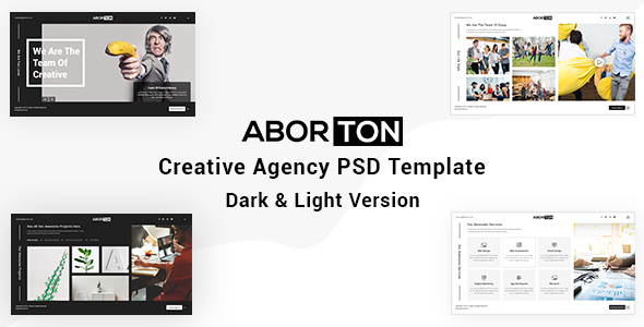 Aborton - Creative Agency PSD Template - Creative PSD Templates
