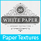 26 White Paper Background Textures - 3DOcean Item for Sale