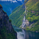 Geiranger fjord, Norway waterfall Seven Sisters - PhotoDune Item for Sale