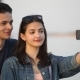 Happy Girl Takes a Selfie with Her Young Boyfriend on the Dnipro Bank - VideoHive Item for Sale