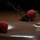Raspberries Falling into Melted Chocolate 4k - VideoHive Item for Sale