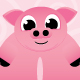 Piggy Cartoon Mascot - GraphicRiver Item for Sale