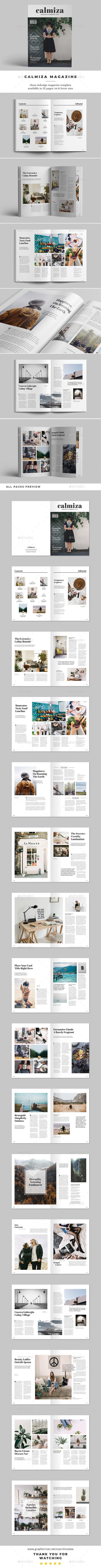 Calmiza Magazine - Magazines Print Templates