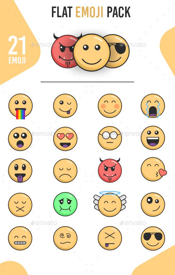 Flat Emoji - Characters Vectors