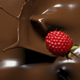 Raspberries Falling into Melted Chocolate, Top View 4k - VideoHive Item for Sale