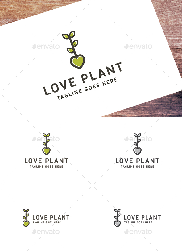 Love Plant - Nature Logo Templates