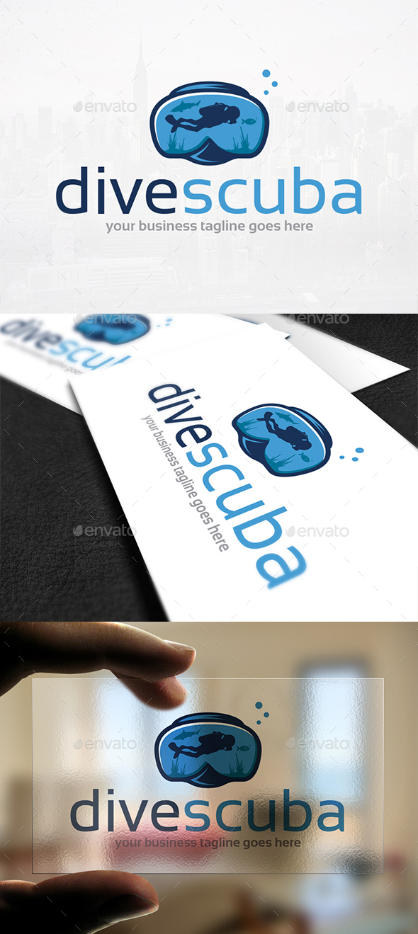 Diving Club Logo Template - Humans Logo Templates