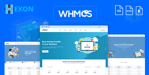 HEXON-WHMCS Hosting Cloud Server Template