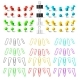 Colorful Pushpins and Paperclips Binders