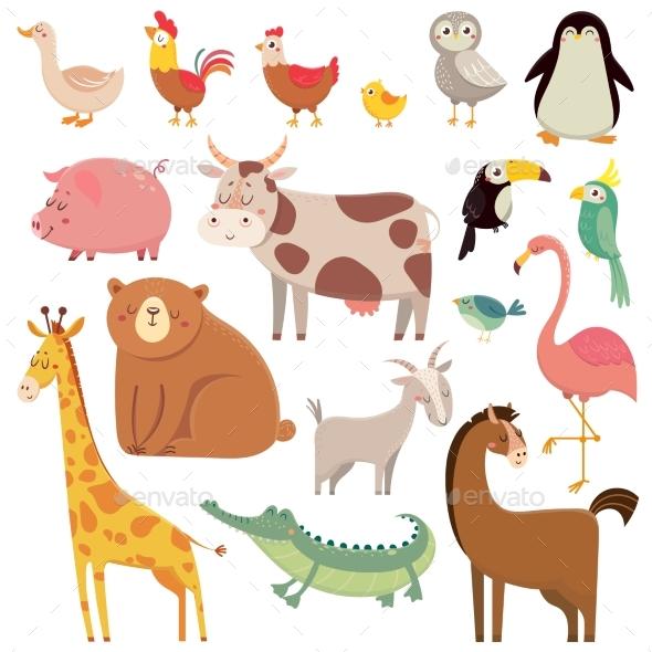 baby animal cartoons by tartila graphicriver