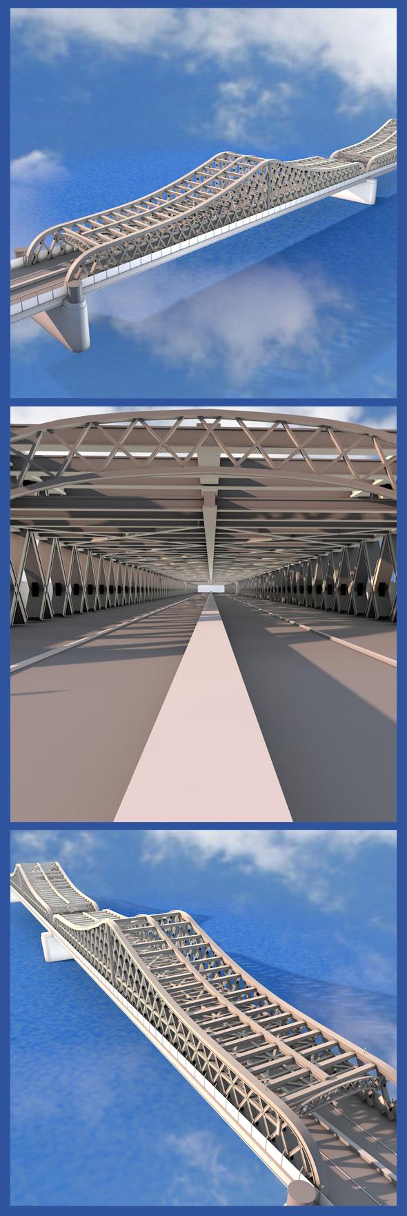 Willis Avenue Bridge - 3DOcean Item for Sale