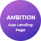 Ambition - App Landing Page - ThemeForest Item for Sale
