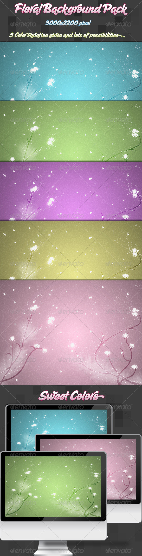 Floral Background Pack - Abstract Backgrounds