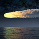 Meteorite Flies over the Ocean 4k - VideoHive Item for Sale