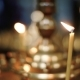 View at the Church Candles Burning in the Orthodox Temple - VideoHive Item for Sale