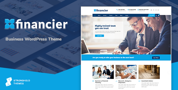 Financier - Business WordPress Theme - Business Corporate