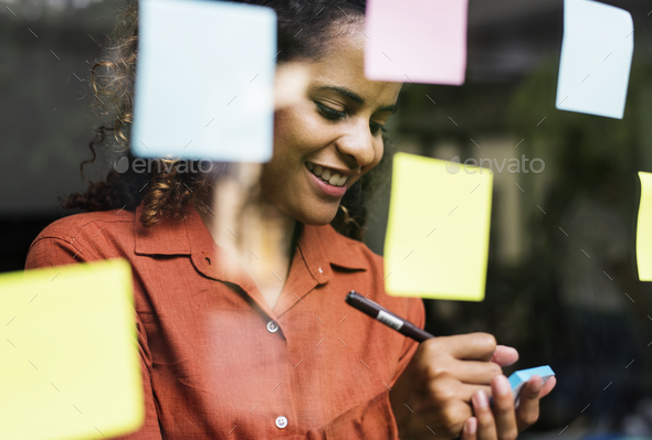 Businesspeople brainstorming with creative ideas - Stock Photo - Images