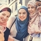 Group of islamic women taking selfie together - PhotoDune Item for Sale